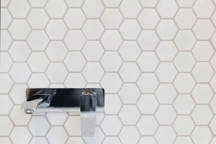 Bathroom sink tiles